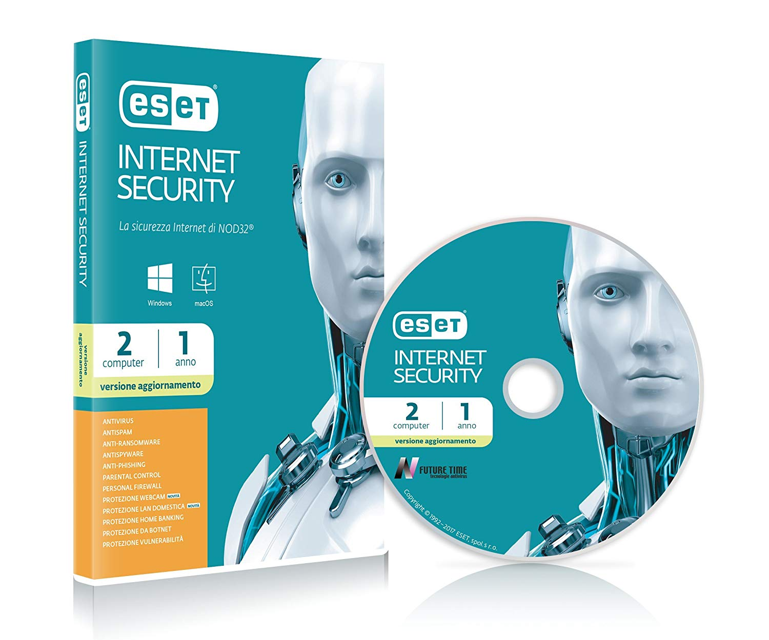 ESET BOX INTERNET SECURITY RINNOVO 1Y2U