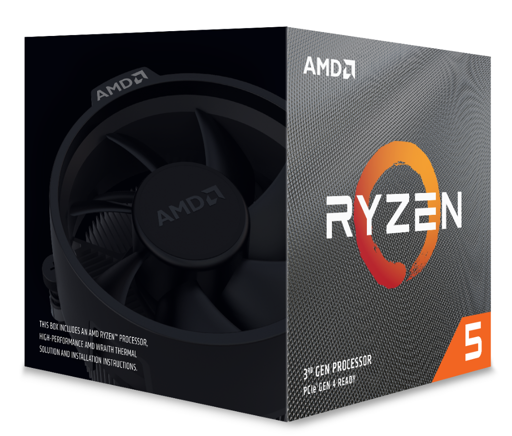 AMD CPU RYZEN 5 3600XT 4,5GHZ AM4 6 CORE 35MB CACHE 95W WITH WRAITH SPIRE COOLER