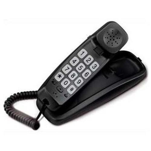 BRONDI TELEFONO BRAVO SLIM COMPATTO CON TASTI GRANDI NERO
