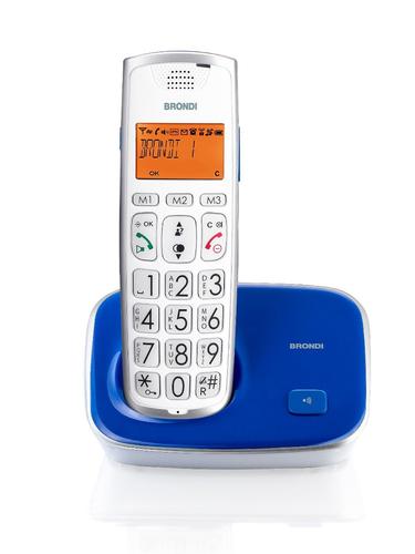 BRONDI TELEFONO CORDLESS BRAVO 2GOLD BLU