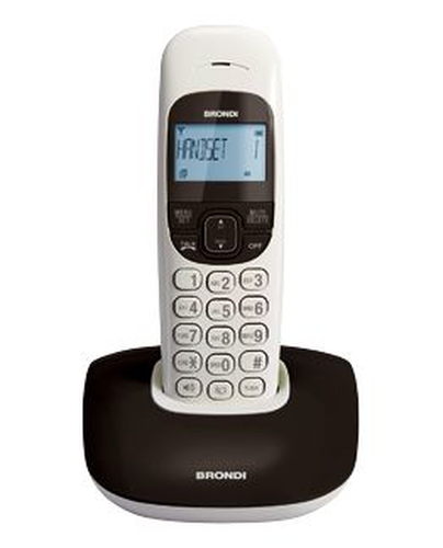 BRONDI TELEFONO CORDLESS NICE NERO VIVAVOCE RUBRICA SVEGLIA