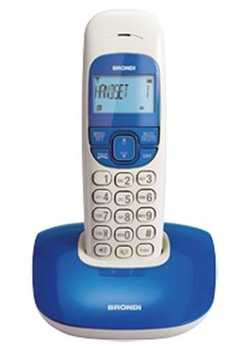 BRONDI TELEFONO CORDLESS NICE BLU VIVAVOCE RUBRICA SVEGLIA SNOOZE