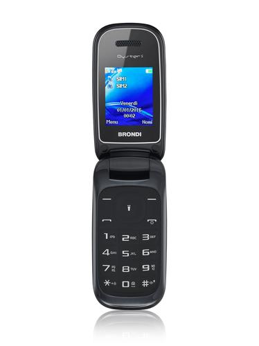 BRONDI CELLULARE OYSTER S DUAL SIM FLIP GSM 1,7 A COLORI RADIO FM NERO