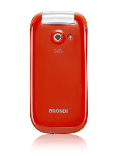 BRONDI CELLULARE OYSTER S DUAL SIM FLIP GSM 1,7 A COLORI RADIO FM ROSSO