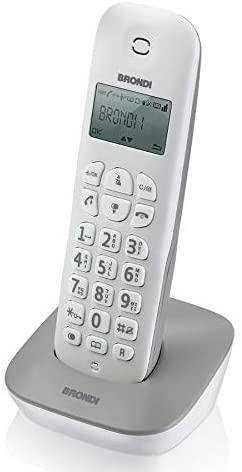 BRONDI TELEFONO CORDLESS GALA BIANCO/GRIGIO SVEGLIA 300M PORTATA