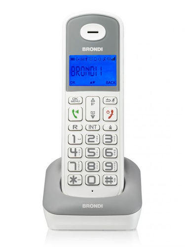 BRONDI TELEFONO CORDLESS BRAVO STYLE BIANCO/GRIGIO