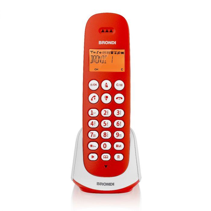 BRONDI TELEFONO CORDLESS ADARA ROSSO/BIANCO