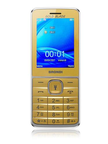 BRONDI CELLULARE GOLD BLADE DUAL SIM GSM QUAD BAND  2,4