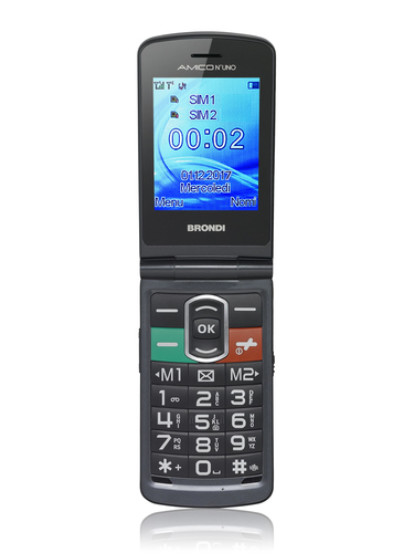 BRONDI CELLULLARE AMICO N. UNO DUAL SIM MAXI DISPLAY 3