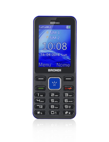 BRONDI CELLULARE GSM BRIO DUAL SIM LCD 2.4