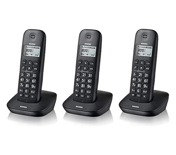 BRONDI TELEFONO CORDLESS GALA TRIO NERO
