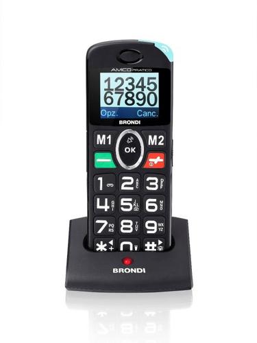 BRONDI CELLULARE AMICO PRATICO 2 IN 1 TELEFONO DI CASA CORDLESS + CELLULARE GSM