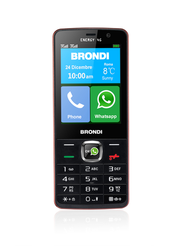 BRONDI CELLULARE ENERGY 4G 3 HD DUAL SIM 4G GSM DUAL BAND 1,3GHZ DUAL CORE CON WHAT UPP INCLUSO