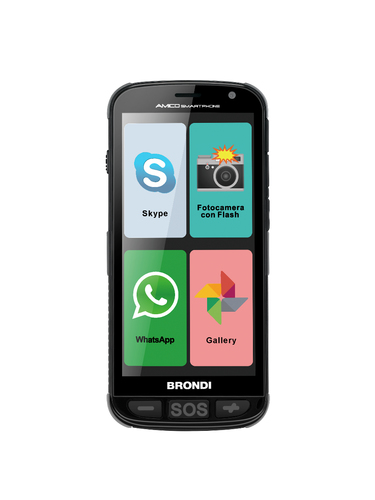 BRONDI AMICO SMARTPHONE 5.0 DUAL SIM 3G GSM 1,3GHZ QUAD-CORE 512MB 4GB GESTIONE WHATSAPP SKYPE MMS