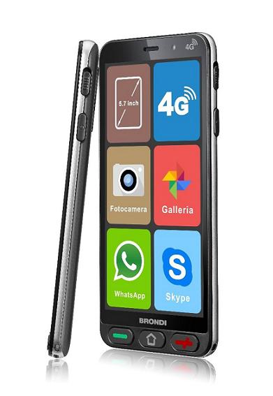 BRONDI AMICO SMARTPHONE S 4G 1GB RAM +8GB DUAL SIM NERO