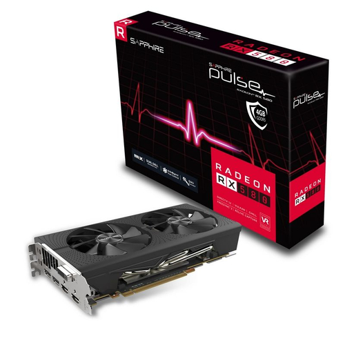 SAPPHIRE VGA PULSE RADEON RX 580 4G GDDR5 DUAL HDMI / DVI-D / DUAL DP OC W/BP (UEFI)