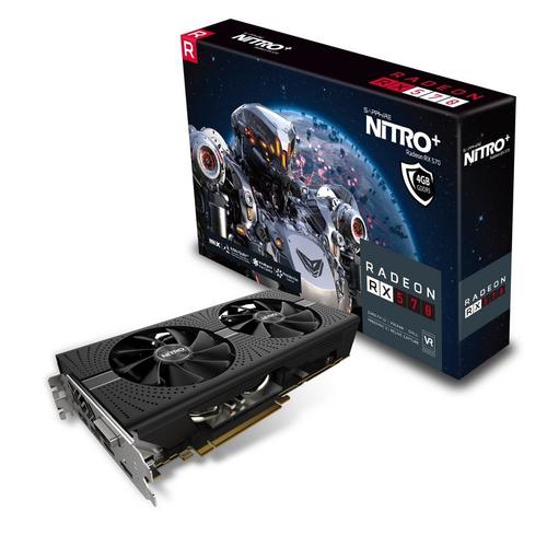 SAPPHIRE VGA NITRO+ RADEON RX 570 4G GDDR5 DUAL HDMI / DVI-D / DUAL DP W/BP (UEFI)