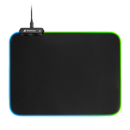 SHARKOON MOUSEPAD TAPPETINO GAMING 1337 MAT RGB V2 360, USB, LUNGHEZZA 36CM