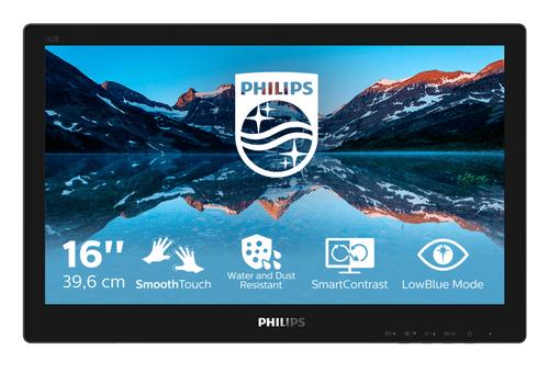 PHILIPS MONITOR TOUCH 15,6 LED TN 16:9 1366x768 220 CDM 4MS, IP65, VGA/DVI/DP/HDMI, MULTIMEDIALE NO