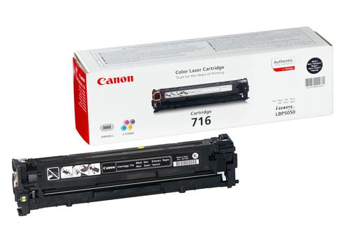 CANON TONER NERO PER LBP5050 716BK 2300PAG 1980B002