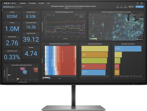 HP MONITOR 27 LED IPS Z27Q G3 16:9 2.560x1440 5MS 350 CDM, PIVOT, 99 sRBG, DP/HDMI - GAR. 36 MESI