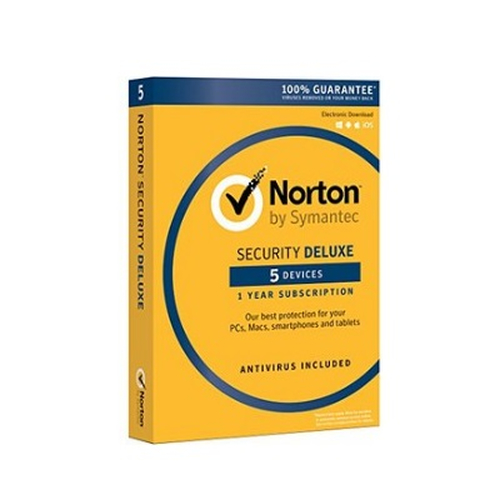 SYMANTEC NORTON SECURITY DELUXE 2018 IT 1 USER 5 DEVICES 12MO CARD MM