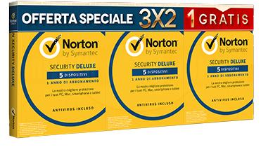 SYMANTEC NORTON SECURITY 5 DISPOSITIVI 3X2