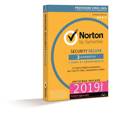 SYMANTEC NORTON SECURITY DELUXE 2018 IT 1 USER 3 DEVICE