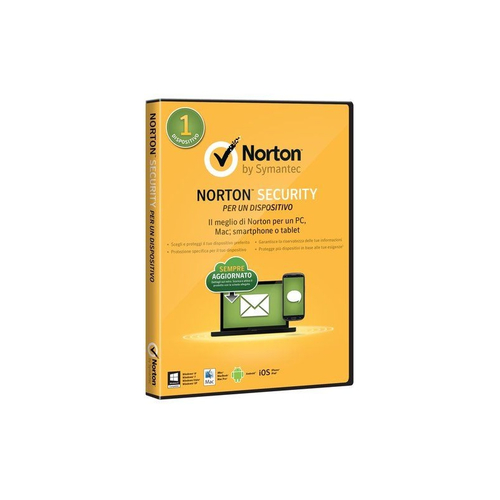 SYMANTEC NORTON SECURITY STANDARD 2018 IT 1 USER 1 DEVICE 12M CARD MM