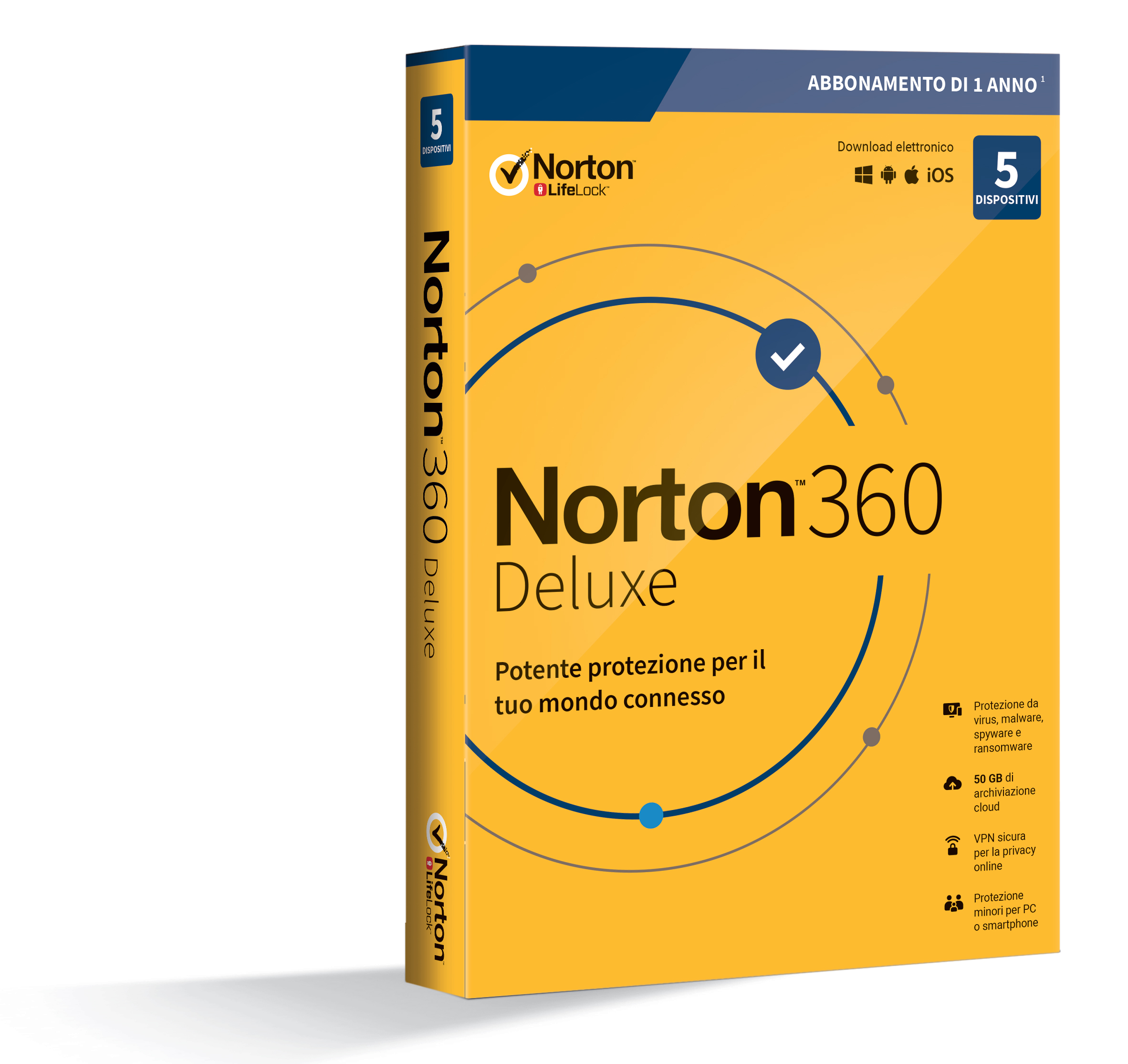 SYMANTEC NORTON 360 DELUXE 2020 5 DISPOSITIVI 12 MESI 50GB