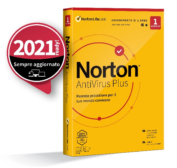 SYMANTEC NORTON ANTIVIRUS PLUS 2020 1 DISPOSITIVO 12 MESI 2GB