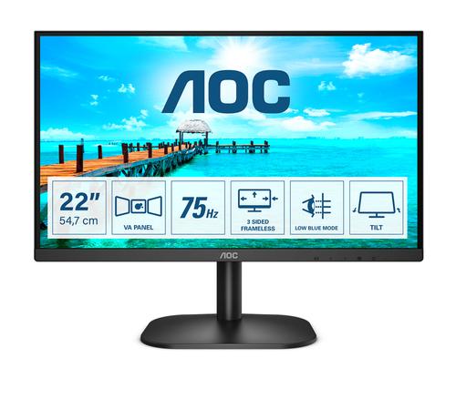 AOC MONITOR 21,5 LED VA FHD 16:9 200 CDM, DVI/HDMI, MULTIMEDIALE