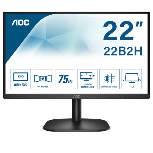 AOC MONITOR 21,5 LED VA FHD 16:9 200 CD/M 6,5MS VGA/HDMI