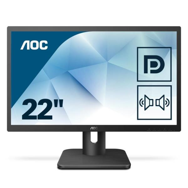 AOC MONITOR 21,5 16:9 MVA 1920X1080 250CD/M 200M:1 5MS MULTIMEDIALE HDMI DP