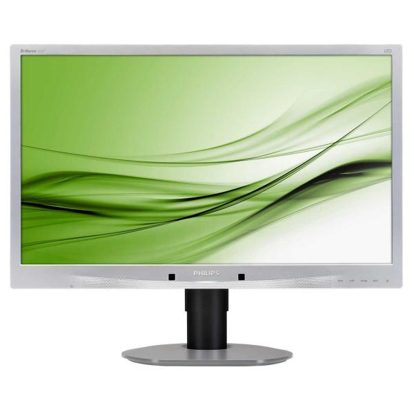 PHILIPS MONITOR 24, LED TN, 16:9, 1920X1080, 250 CD/M, 5MS, 170X160, VGA, DVI-D, DP, USB, SILVER, MULTIMEDIALE, GARANZIA 3 ANNI SWAP ON SITE