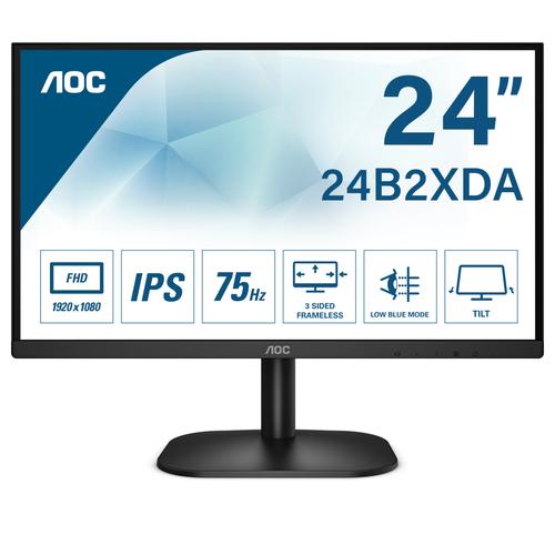 AOC MONITOR 23,8 LED VA FHD 16:9 250 CDM, DVI/HDMI, MULTIMEDIALE