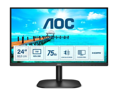 AOC MONITOR 23,8 LED VA FHD 16:9 250 CDM, DVI/HDMI