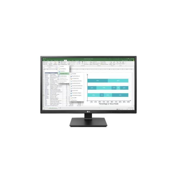 LG MONITOR 24BK550Y 23,8 LED IPS 16:9 1920X1080 250CDM 5MS VGA/ DVI/ DISPLAY PORT/HDMI/ USB MAT BLACK MULTIMEDIALE PIVOT