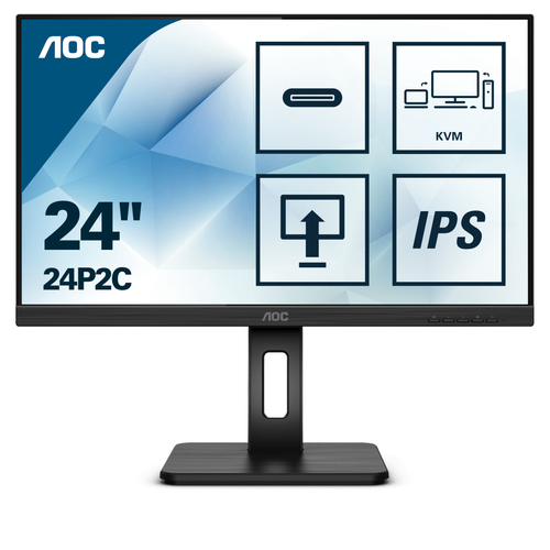 AOC MONITOR 23,8 16:9 IPS FHD 4MS 250 CD/M PIVOT, USB-C, VGA/DP/HDMI MULTIMEDIALE