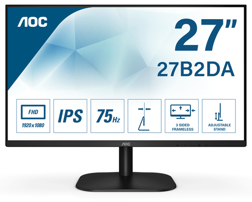 AOC MONITOR 27 16:9 IPS FHD 4MS 250 CD/M VGA/HDMI/DVI, MULTIMEDIALE