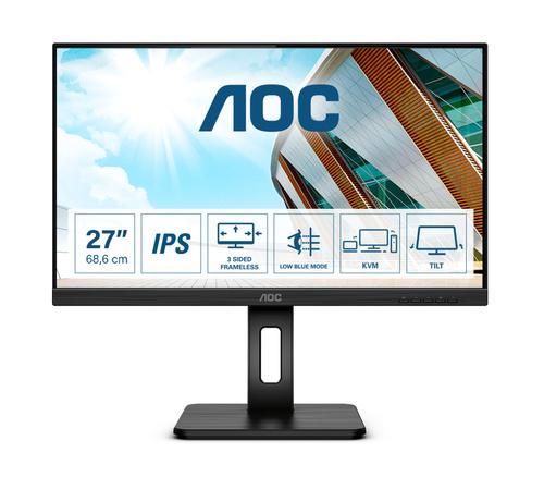 AOC MONITOR 27 LED IPS FHD 16:9 250 CDM, USB-C, MULTIMEDIALE