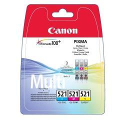 CANON CARTUCCIA INK-JET TRICOLORE CLI-521 C/M/Y PIXMA M 9mlx3