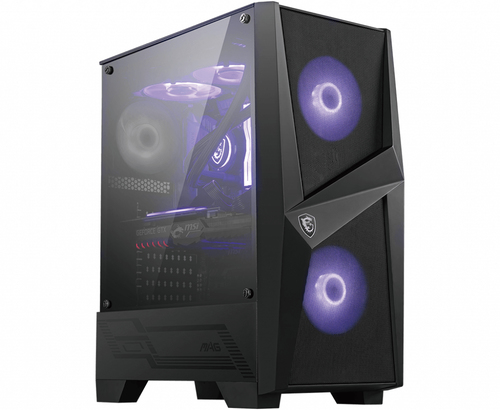MSI CASE ATX MID-TOWER MAG FORGE 100R, 7 SLOT HDD, 3X120MM ARGB FAN FRONT
