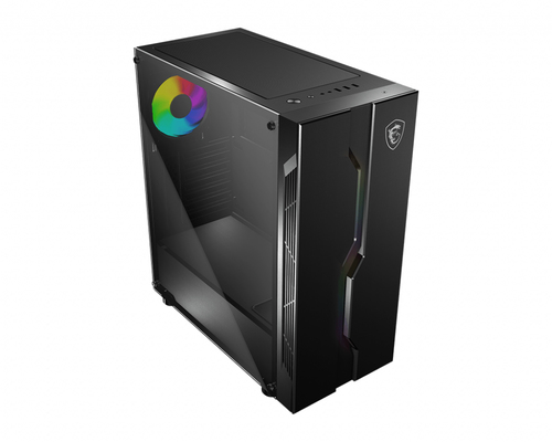 MSI CASE ATX MID-TOWER VAMPIRIC 010X, 7 SLOT HDD, SIDE TEMPERED GLASS, 1X120MM ARGB FAN FRONT, ARGB LED FRONT, BLACK