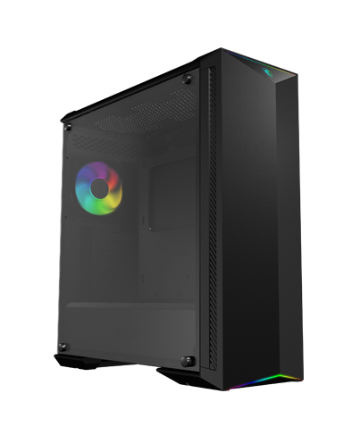 MSI CASE ATX MID-TOWER GUNGNIR100, 7 SLOT HDD, SIDE TEMPERED GLASS, 3X120MM FAN FRONT, 1X120MM RGB FAN REAR