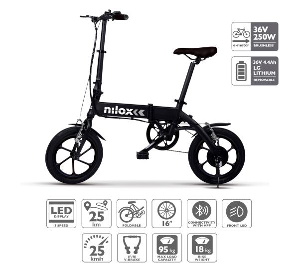 NILOX DOC E-BIKE X2 BLACK