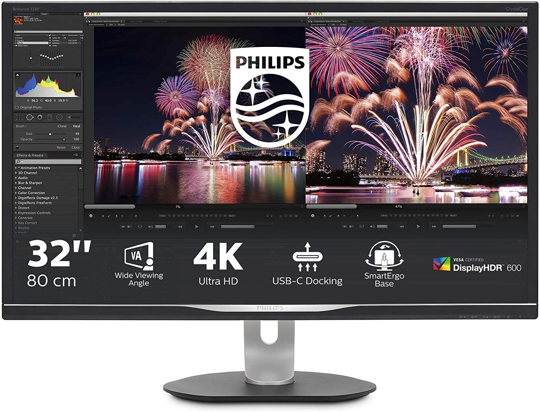 PHILIPS MONITOR 31,5 LED VA UHD 4K 16:9 600CD/M 4MS HDMI/DP/USB MULTIMEDIALE DOCKING STATION USB-C