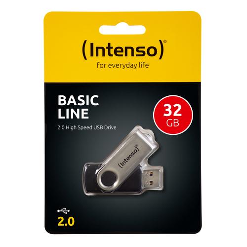 INTENSO PEN DISK 32GB USB 2.0 BASIC LINE BLACK