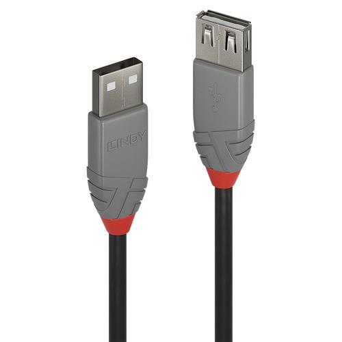 LINDY 0,2M USB 2.0 KABEL AM / AF, ANTHRA