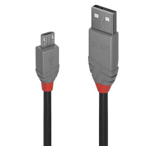 LINDY 2M USB 2.0 KABEL A / MICRO-B, ANTHRA